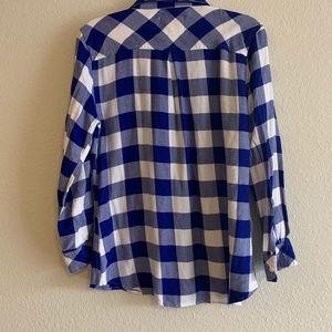 Rails blue and white flannel.  Sooo soft!